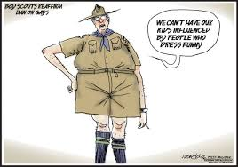 Gay Boy Meme - boy scouts scared of gays political cartoons pinterest