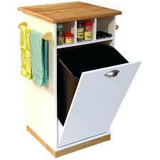 kitchen island with cutting board storage bins trash bin storage table kitchen island can