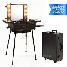 Mirror With Lights Around It Polaiao Lighting Makeup Case Trolley With Mirror With Bulbs Home