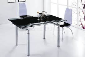 Metal Top Dining Room Table Dt103lb Dc040 Dining Table W Extendable Glass Top U0026 Metal Base