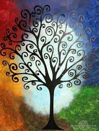 easy tree canvas painting vinyl to painted canvases