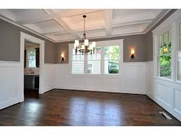 Dining Room With Wainscoting Option 2 Dining Room Coffered Ceiling Picture For The Home