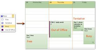 absence du bureau outlook outlook afficher le calendrier comme occupé gratuit provisoire et