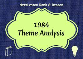 theme essay for 1984 1984 analysis term paper help