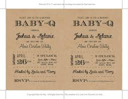baby q baby shower invitation template download black kraft