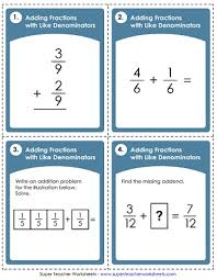 adding and subtracting fractions worksheets