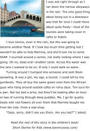 Free Stories For Bedtime Stories For Children Free Children S Story About A Rainy Day In Venice Cossey