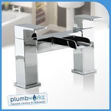Bath Tap With Shower Designer Cascade Waterfall Bath Filler Tap Shower Mixer Chrome