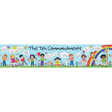 children u0027s ten commandments banner tcr7005 teacher created