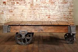 railroad cart coffee table vintage industrial lineberry cart coffee table at 1stdibs