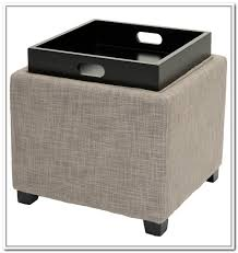Ottoman With Tray Leather Storage Ottoman With Tray Bonners Furniture