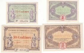 chambre de commerce dijon 1915 1920 lot de 2 billets chambre de commerce de dijon neuf pirot 1