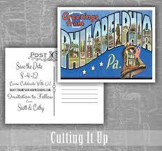 Wedding Postcards Greetings From Philadelphia Save The Date Postcards Oregon