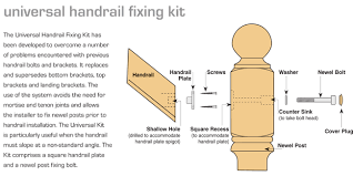 How To Fix Handrail To Newel Post Handrail Universal Fixing Kit Staircase Handrail Universal Fixing