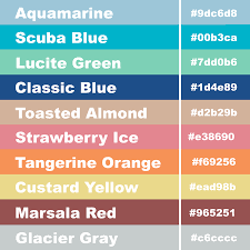 hex code pantone color palette for spring 2015 girly business cards