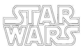 star wars logo coloring kids