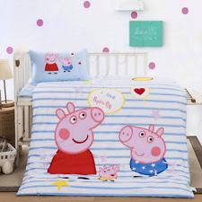Peppa Pig Duvet Cover 100 Cotton Peppa Pig Tweet Reversible Single Duvet Quilt Cover Kids Girls