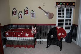 vintage music theme boys baby nursery red bedding nursery and