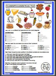 Countable And Uncountable Nouns Exercises Advanced Pdf Esl Food Worksheets Countable Nouns Cosas Para Comprar