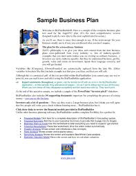 business plan format in word sle business plans sle business plan template business plan