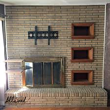 photos of painted brick fireplaces home design ideas cool to