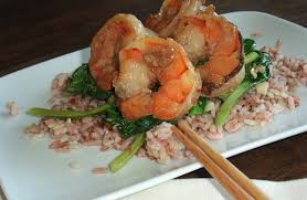 cuisine madagascar honey and lime prawns with madagascar pink rice chagne