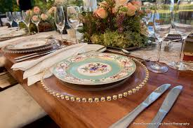 mismatched plates wedding justin farm wedding chester county wedding aribella events