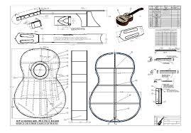 jose ramirez classical guitar blueprint plans design drawings