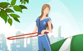sports 12428 sports girls wallpapers cartoon illustration