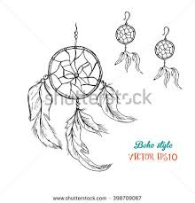 american indians amulet dream catcher feathers stock vector