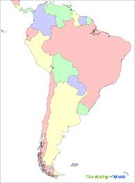 Blank Continent Map by South America Countries Map