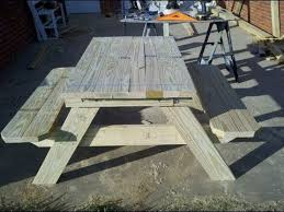 Plans For Making A Wooden Picnic Table by How To Build A 4 Foot Picnic Table With An Umbrella Holder Part 1