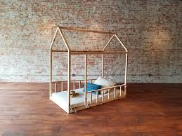 kids house bed with two rails twin toddler bed house bed