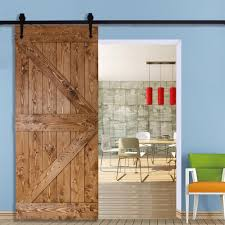 Sliding Barn Doors For Closet by Homcom Modern Sliding Barn Door Closet Hardware Track Kit Track