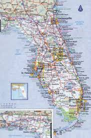 Map Of Georgia And Florida Usa Map States Cities Roads Large Detailed Roads And Highways Map