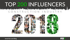 200 influencers in the construction industry 2018
