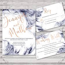 Thailand Wedding Invitation Card Marble Wedding Invitation Suite Print At Home Files Or Printed