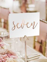 wedding table numbers notulen gold foil table numbers gold table number