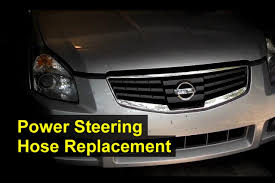 power steering hose replacement hi pressure hose nissan maxima