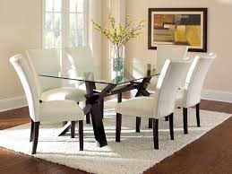 Dining Room Sets White Kitchen Chairs White Leather Armless Kitchen Chairs Glass Top