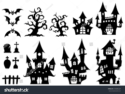 halloween set ghost house stock vector 315905234 shutterstock