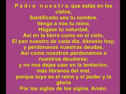 el padrenuestro pronunciado en español the lord u0027s prayer in