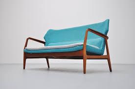 wingback lounge sofa by aksel bender madsen for bovenkamp 1960s