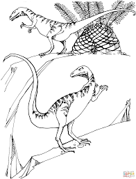 compsognathus coloring page free printable coloring pages