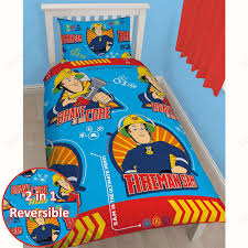 fireman sam duvet cover sets single double junior sizes