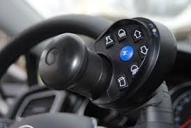 blocco volante auto guida disabili centralina volante a infrarossi e acceleratori