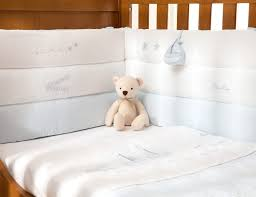 Cot Bumper Sets Vintage Blue Cot Bed Bumper Silver Cross Uk