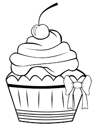 free printable cupcake coloring pages for kids cakes food stuff
