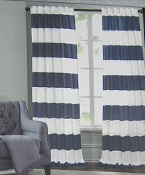 Wide Window Curtains by Hillcrest Cabana Wide Stripe Two Window Curtain Panels 52 X 96