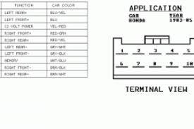 radio wiring diagram 1995 honda civic wiring diagram simonand